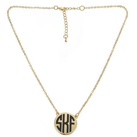 Monogrammed  Charleston Necklace 16 inches  Apparel & Accessories > Jewelry > Necklaces