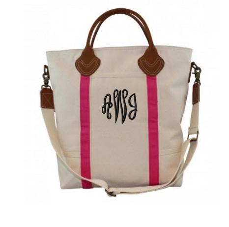 Monogrammed Shoulder Bag in Pink   Luggage & Bags > Messenger Bags