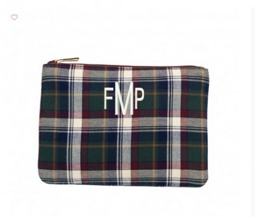 ON SALE! Monogrammed Plaid Avery Zip Pouch   Luggage & Bags > Duffel Bags
