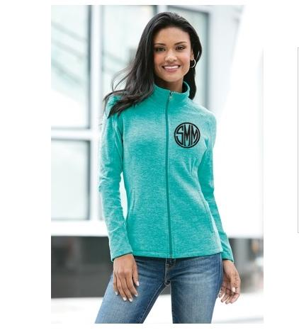 Ladies Heather Microfleece Full-Zip Jacket More Colors  Apparel & Accessories > Clothing > Activewear > Active Jackets