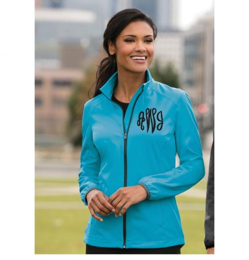 Ladies Soft Shell Sport Jacket Sizes Monogrammed up to 4XLarge  Apparel & Accessories > Clothing > Activewear > Active Jackets