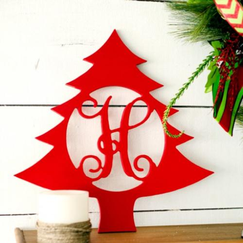 Wood Christmas Tree Monogram Personalize to Your Decor  Home & Garden > Decor > Seasonal & Holiday Decorations