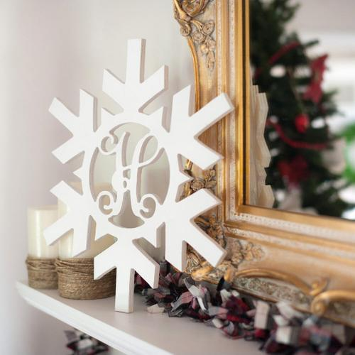Wood Snowflake Monogram Personalize to Your Decor  Home & Garden > Decor > Seasonal & Holiday Decorations