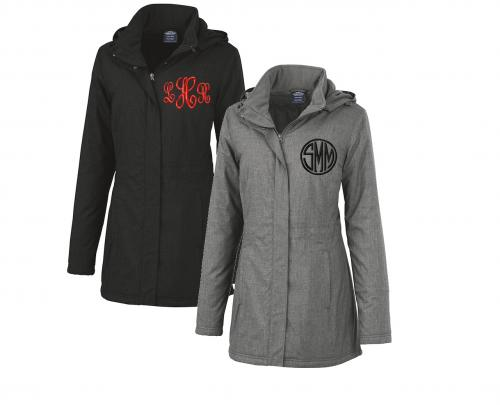 Monogrammed Ladies Journey Parka by Charles River  Apparel & Accessories > Clothing > Outerwear > Coats & Jackets > Overcoats