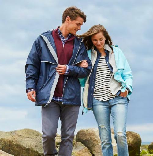 Men's Charles River New Englander Rain Jacket  Apparel & Accessories > Clothing > Outerwear > Rain Gear > Raincoats