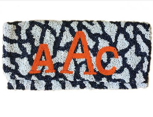 Beaded Giraffe Print Monogram Clutch  Apparel & Accessories > Handbags > Clutches & Special Occasion Bags
