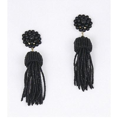 Lisi Lerch Black Tassel Earrings   Apparel & Accessories > Jewelry > Earrings