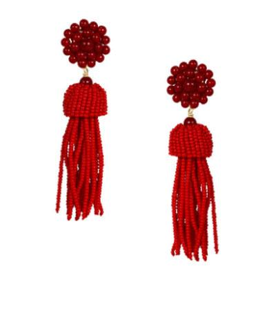 Lisi Lerch Burgundy Tassel Earrings   Apparel & Accessories > Jewelry > Earrings