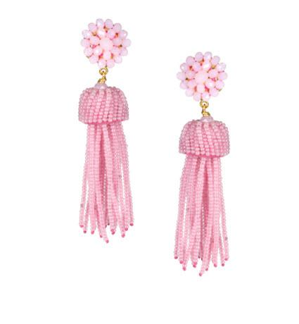 Lisi Lerch Pink Cotton Candy Tassel Earrings   Apparel & Accessories > Jewelry > Earrings