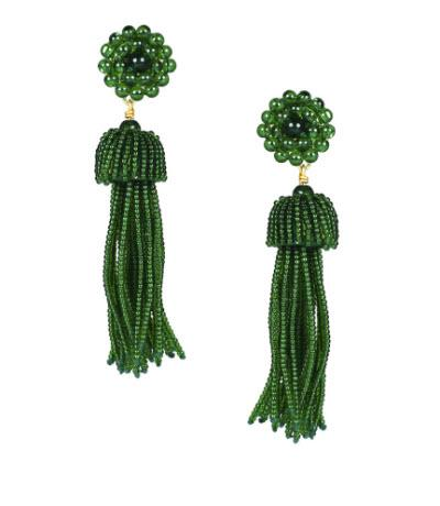 Lisi Lerch Emerald Green Tassel Earrings   Apparel & Accessories > Jewelry > Earrings