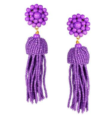 Lisi Lerch Purple Tassel Earrings   Apparel & Accessories > Jewelry > Earrings