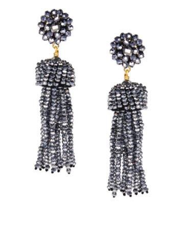 Lisi Lerch Gray Disco Tassel Earrings   Apparel & Accessories > Jewelry > Earrings