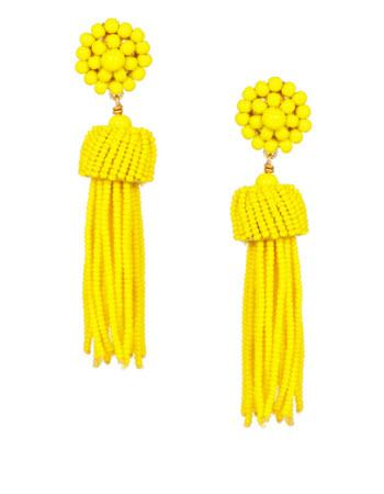 Lisi Lerch Lemon Yellow Tassel Earrings   Apparel & Accessories > Jewelry > Earrings