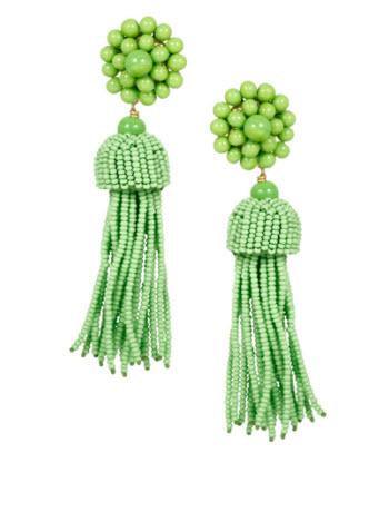 Lisi Lerch Lime Green Tassel Earrings   Apparel & Accessories > Jewelry > Earrings