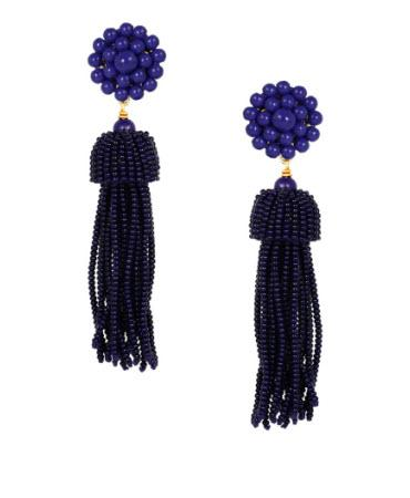 Lisi Lerch Navy Tassel Earrings   Apparel & Accessories > Jewelry > Earrings