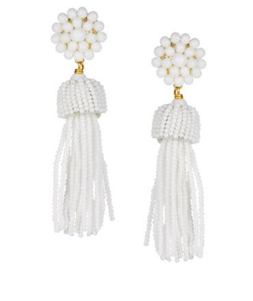 Lisi Lerch White Tassel Earrings  Apparel & Accessories > Jewelry > Earrings