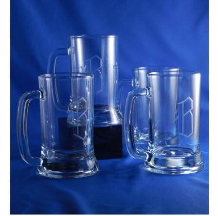 Personalized Beer Mugs Set of 4  Home & Garden > Kitchen & Dining > Tableware > Drinkware > Mugs