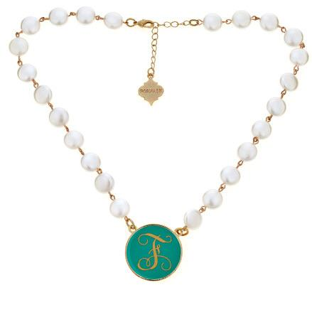 Monogrammed Blanche Necklace with Gold Accents  Apparel & Accessories > Jewelry > Necklaces