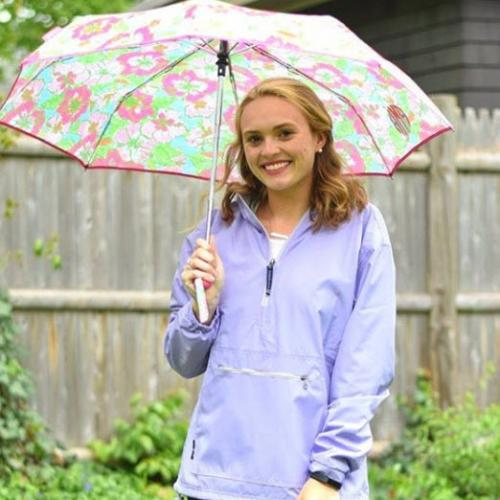 Womans  Spring Shower Monogrammed Pullover  Apparel & Accessories > Clothing > Outerwear > Rain Gear > Raincoats