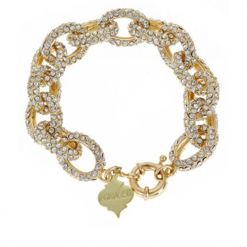 Ritz Crystal and Gold Link Bracelet Ritz Crystal and Gold Link Bracelet Apparel & Accessories > Jewelry > Bracelets