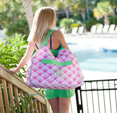 ON SALE! Monogrammed Beach Bag Shelly Print  Luggage & Bags