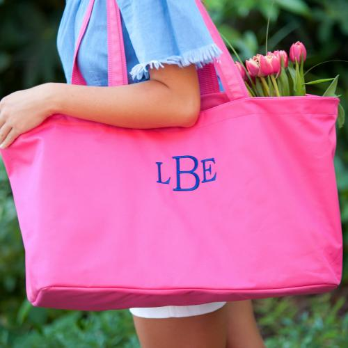Personalized Hot Pink Ultimate Tote  Luggage & Bags > Shopping Totes