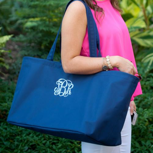 Personalized Navy Blue Ultimate Tote  Luggage & Bags > Shopping Totes