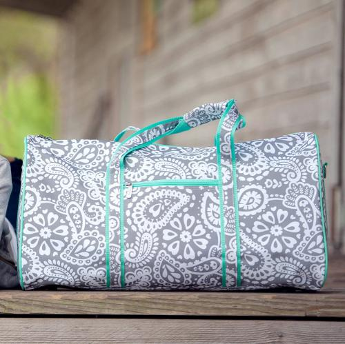 Personalized Parker Paisley Duffel Bag  Luggage & Bags > Duffel Bags