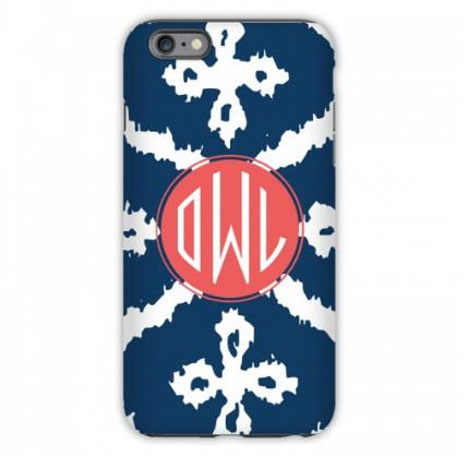 Monogrammed iPhone Case Montauk Pattern  Electronics > Communications > Telephony > Mobile Phone Accessories > Mobile Phone Cases