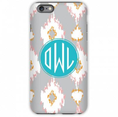 Monogrammed iPhone Case Mirage Pattern  Electronics > Communications > Telephony > Mobile Phone Accessories > Mobile Phone Cases