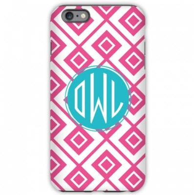 Monogrammed iPhone Case Lucy Pattern  Electronics > Communications > Telephony > Mobile Phone Accessories > Mobile Phone Cases