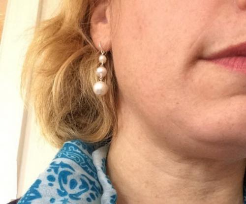 Graduated Cultured Pearl Earrings Graduated Cultured Pearl Earrings Apparel & Accessories > Jewelry > Precious Stones