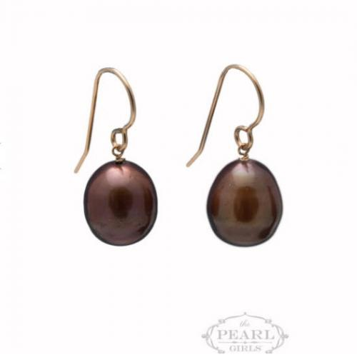 Chocolate Pearl Drop Earrings Chocolate Pearl Drop Earrings Apparel & Accessories > Jewelry > Precious Stones