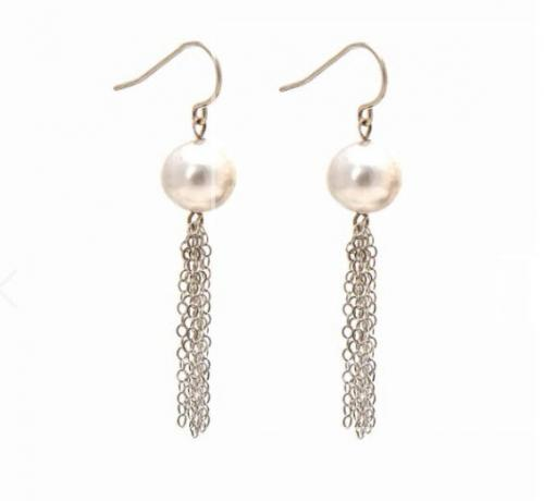 Pearl Top Tassel Earrings Pearl Top Tassel Earrings Apparel & Accessories > Jewelry > Precious Stones