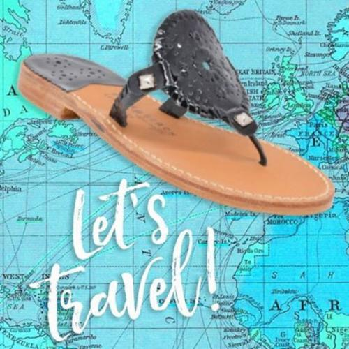 Palm Beach Sandals Ocean Ave in Black Patent and Black  Apparel & Accessories > Shoes > Sandals > Thongs & Flip-Flops