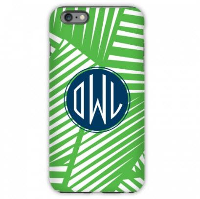 Monogrammed iPhone Case Palms  Electronics > Communications > Telephony > Mobile Phone Accessories > Mobile Phone Cases