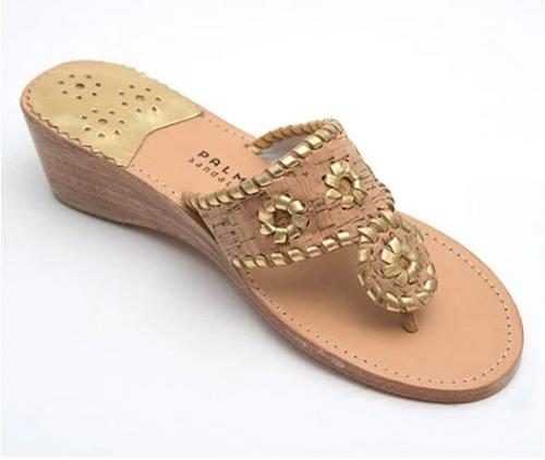 Palm Beach Mid Wedge Cork with Gold Sandals  Apparel & Accessories > Shoes > Sandals > Thongs & Flip-Flops