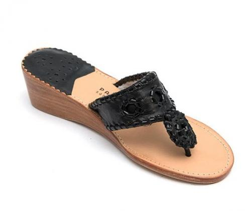 Palm Beach Mid Wedge Black with Black Patent Sandals  Apparel & Accessories > Shoes > Sandals > Thongs & Flip-Flops