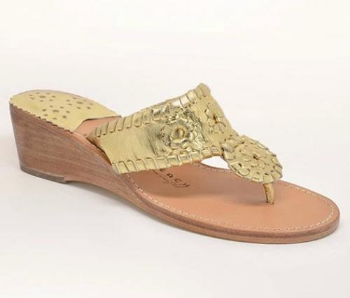 Palm Beach Mid Wedge Gold Sandals  Apparel & Accessories > Shoes > Sandals > Thongs & Flip-Flops