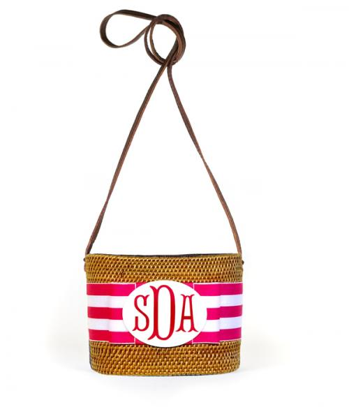 Monogrammed Small Oval Bali Bag  Apparel & Accessories > Handbags > Shoulder Bags