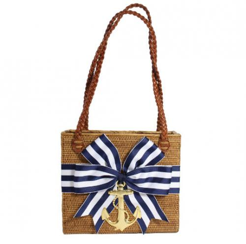 REC Stripe Bow Anchor Bag REC Stripe Bow Anchor Bag Apparel & Accessories > Handbags > Shoulder Bags