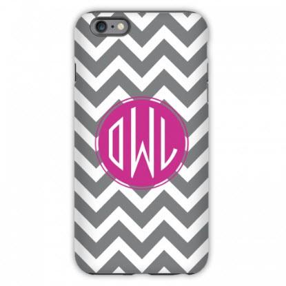 Personalized IPhone Case In Chevron Pattern  Electronics > Communications > Telephony > Mobile Phone Accessories > Mobile Phone Cases