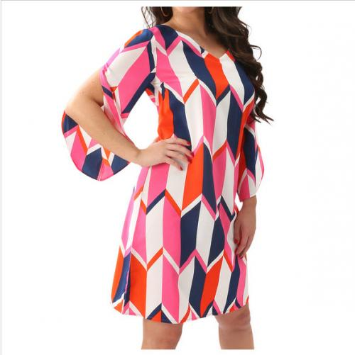 Preppy Beau and Arrow Split Sleeve Dress  Apparel & Accessories > Clothing > Dresses > Day Dresses