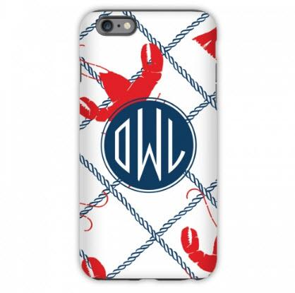 Monogrammed iPhone Case Rock Lobster  Electronics > Communications > Telephony > Mobile Phone Accessories > Mobile Phone Cases