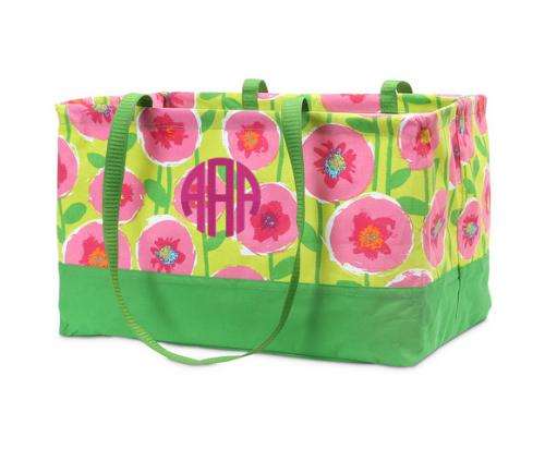 Monogrammed Lollipoppies Rectangle Crunch Tote   Luggage & Bags > Shopping Totes