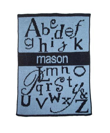 Monogrammed Knit ABC's and Name Blanket   Home & Garden > Linens & Bedding > Bedding > Blankets > Throws