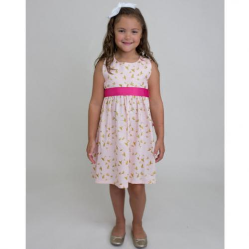 Personalized Pink Flight Sash Dress  Apparel & Accessories > Clothing > Baby & Toddler Clothing > Baby & Toddler Dresses
