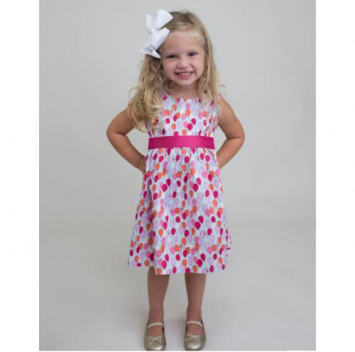 Personalized Balloons Sash Dress  Apparel & Accessories > Clothing > Baby & Toddler Clothing > Baby & Toddler Dresses