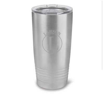 Monogrammed Husavik Stainless Steel 20 ounce Tumbler  Home & Garden > Kitchen & Dining > Tableware > Drinkware > Tumblers