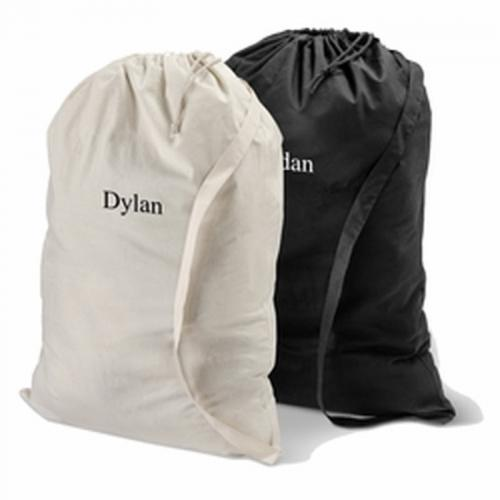 Personalized Cotton Laundry Bag  Home & Garden > Household Supplies > Laundry Supplies > Washing Bags & Baskets